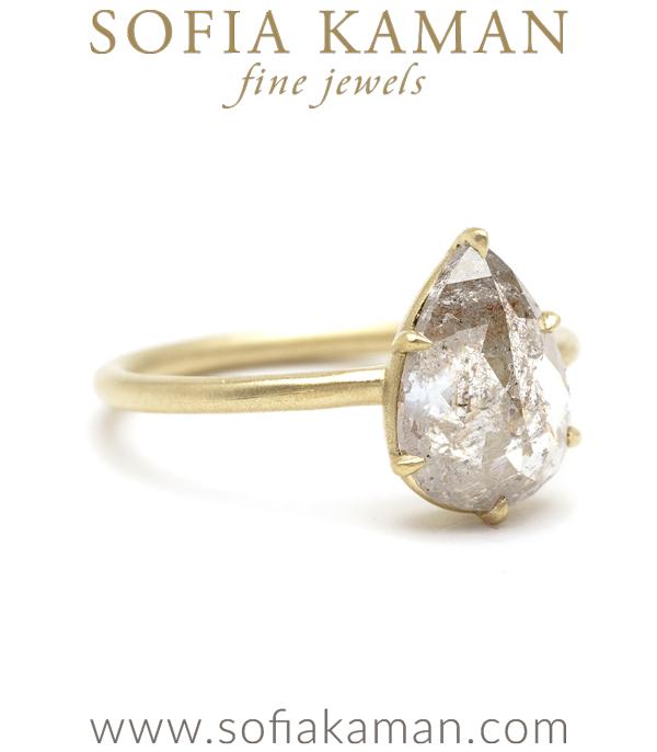 Pear Shaped Diamond Unique Engagement Ring