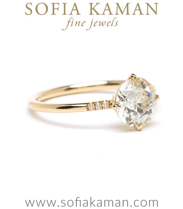 Designer Diamond Solitaire Engagement Ring