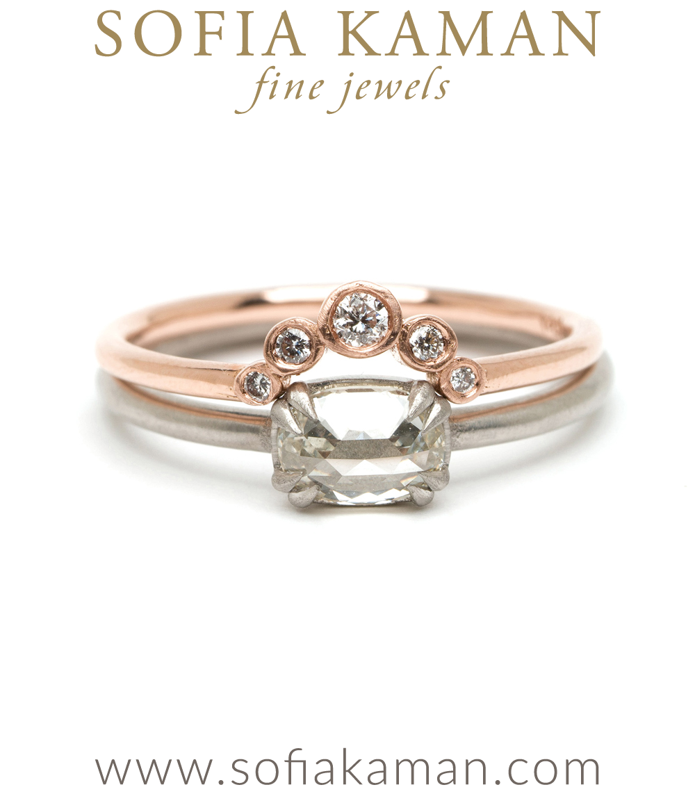 Rose Cut Diamond Simple Solitaire Platinum