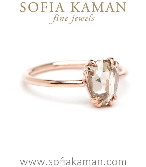 Rose Cut Engagement Ring