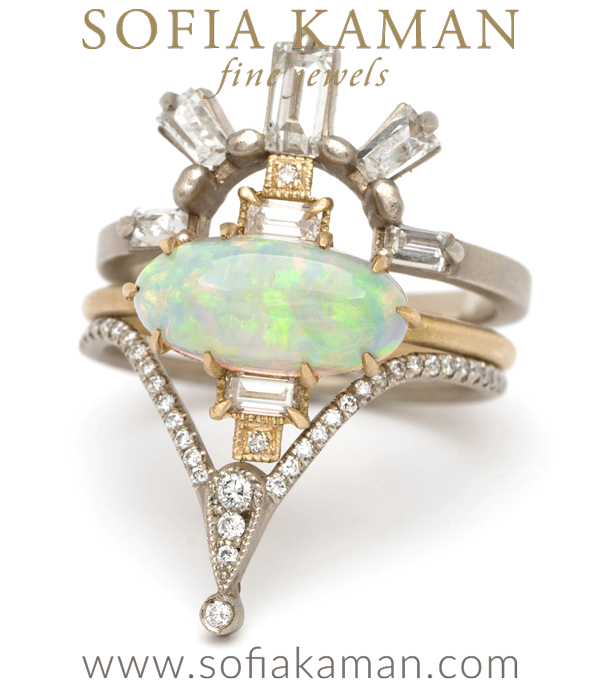Vintage Inspired Deco Opal Statement Ring