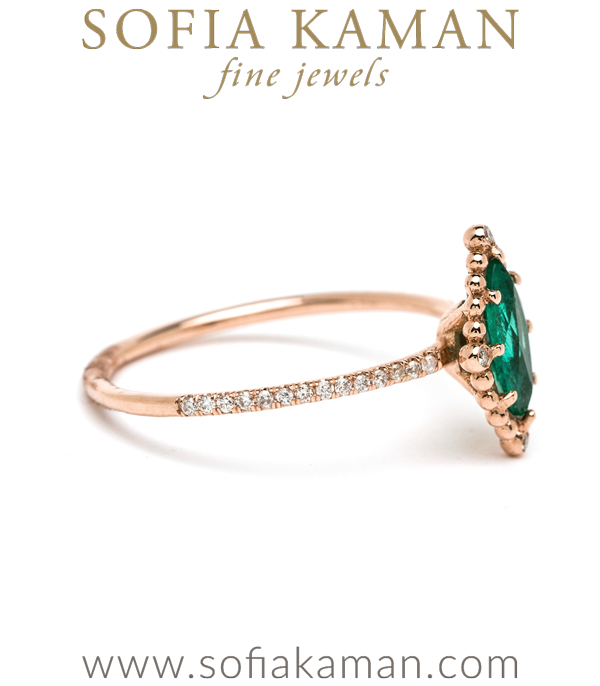 Boho Emerald Marquise Ethical Engagement Ring