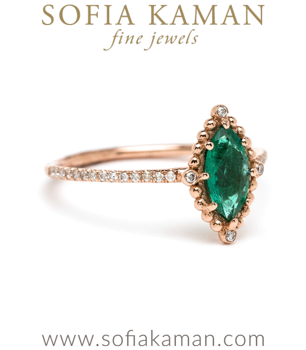 Sofia Kaman Emerald Bohemian Engagement Ring