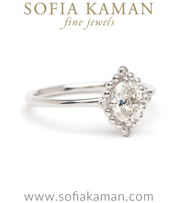 White Gold Boho Engagement Ring
