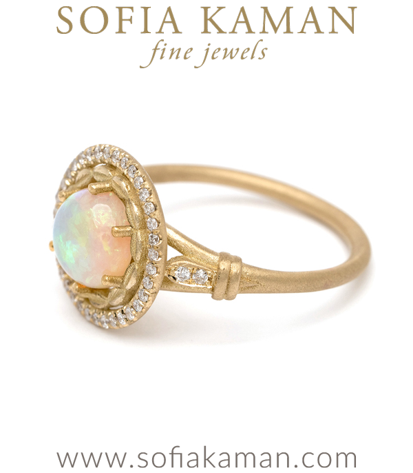 Opal Engagement Ring Los Angeles
