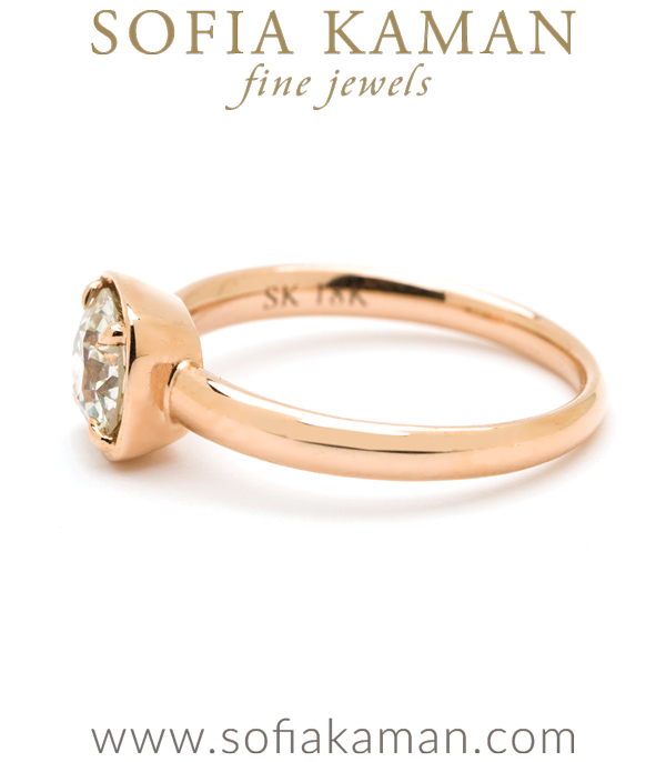 18k Rose Gold Simpe Unique Engagment Ring