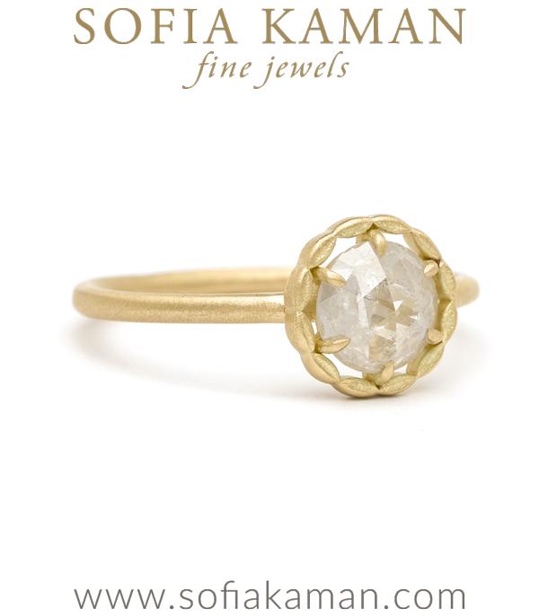 Salt And Pepper Diamond Boho Engagement Ring