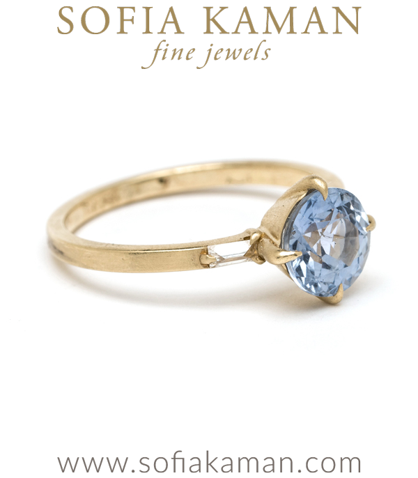 Bohemian Sapphire Ethical Engagement Ring