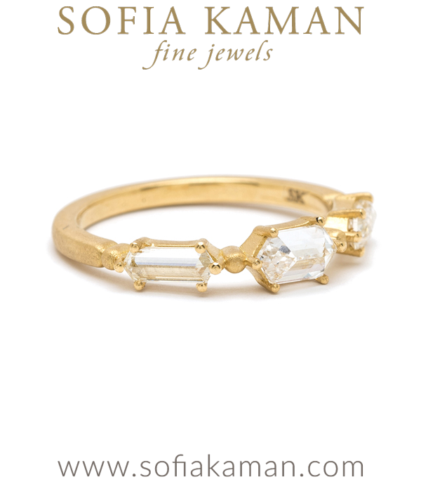 Hexagon Diamond Bohemian Ethical Engagement Ring