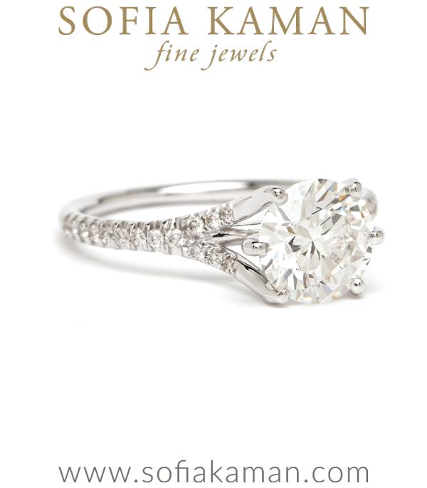 Lab Created Diamond Engagement Ring