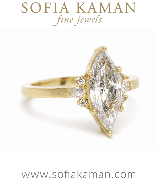 Marquise Shape Diamond Solitaire Engagement Ring