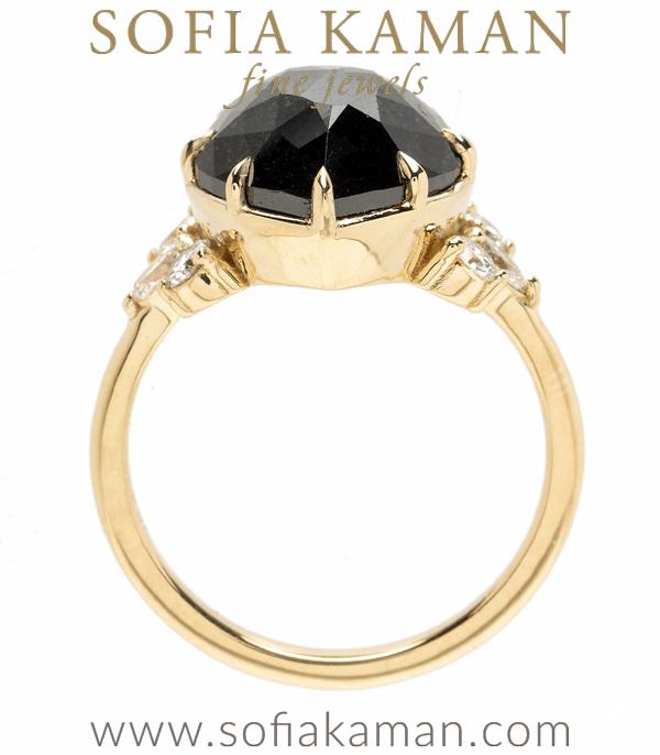 Black Diamond Unique Engagement Ring