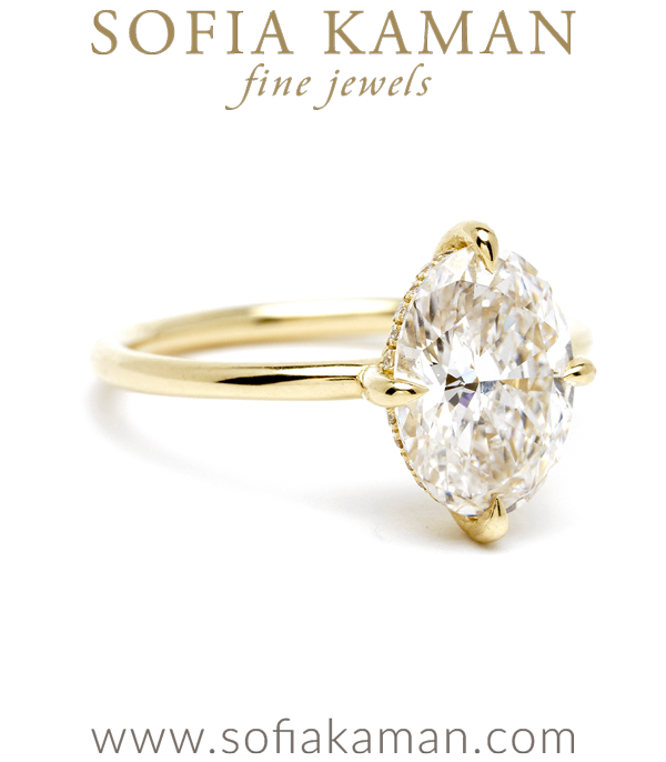 Hidden Halo Solitaire Diamond Engagement Ring
