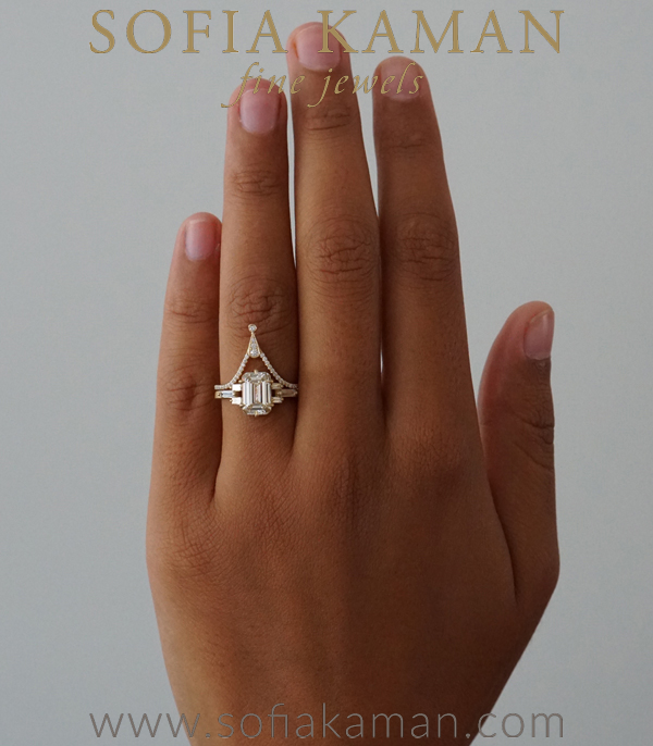 Vintage Inspired Champagne Diamond Engagement Ring
