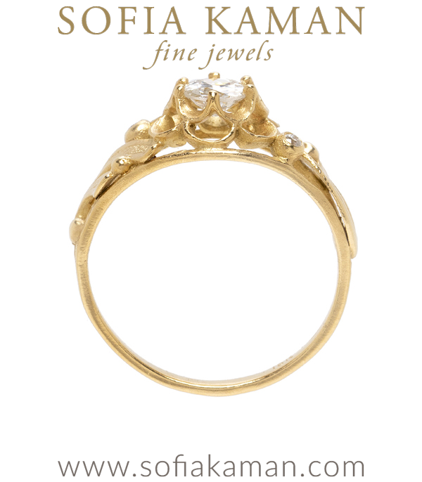 Double Buttercup Diamond Engagement Ring