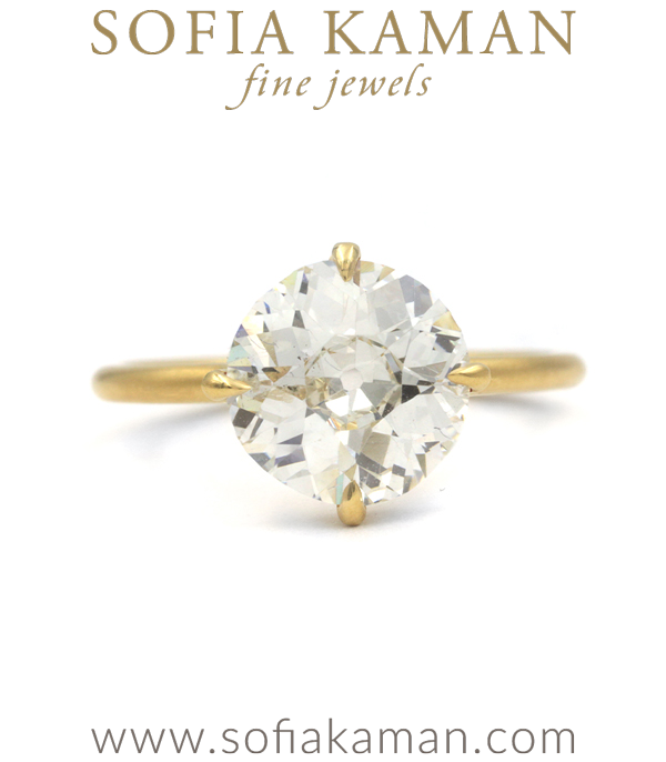 Billie Old European Cut Diamond Unique Engagement Rings designed by Sofia Kaman handmade in Los Angeles using our SKFJ ethical jewelry process.