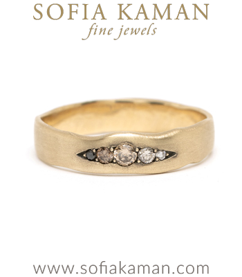 Large Gender Neutral Wedding Band Benefitting NAACP designed by Sofia Kaman handmade in Los Angeles