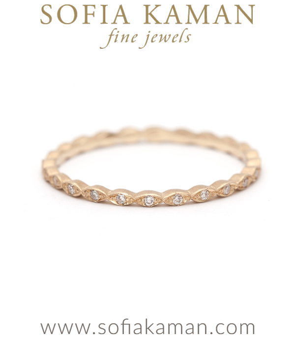 Petite Marquis Pave Eternity Band