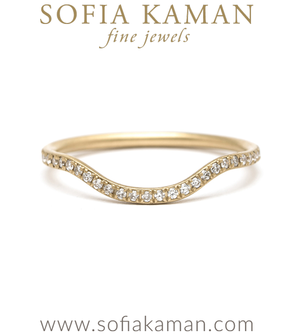 Pave Diamond Stacking Boho Wedding Band