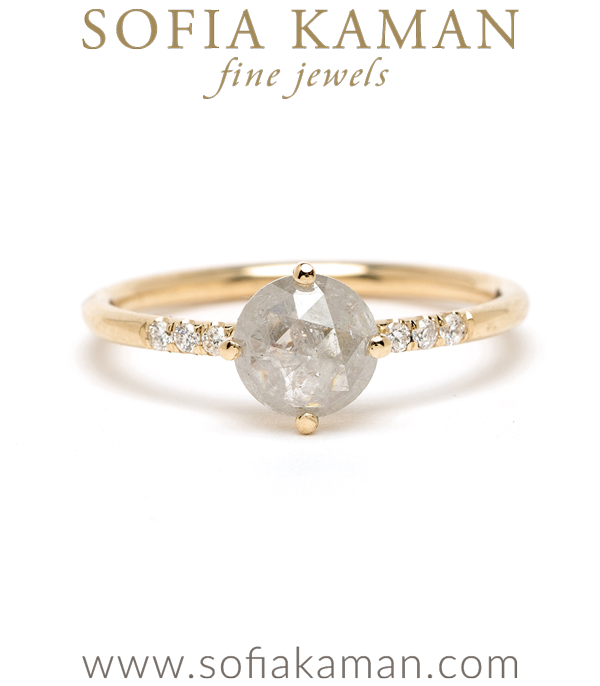 Sofia Kaman Salt And Pepper Engagement Ring