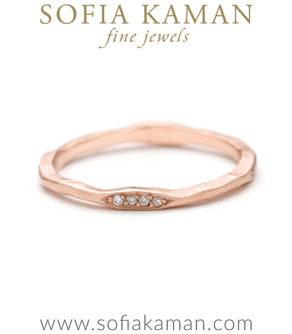 Skinny Diamond Pod Stacking Ring