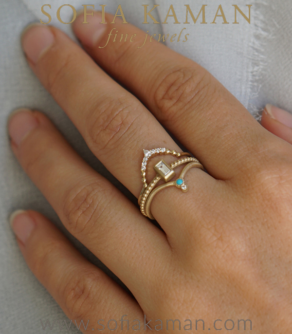 Sofia Kaman Boho Stacking Ring Set