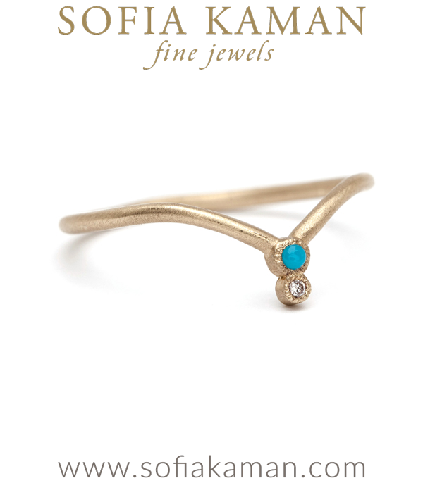 Turquoise And Diamond Tiara Ring