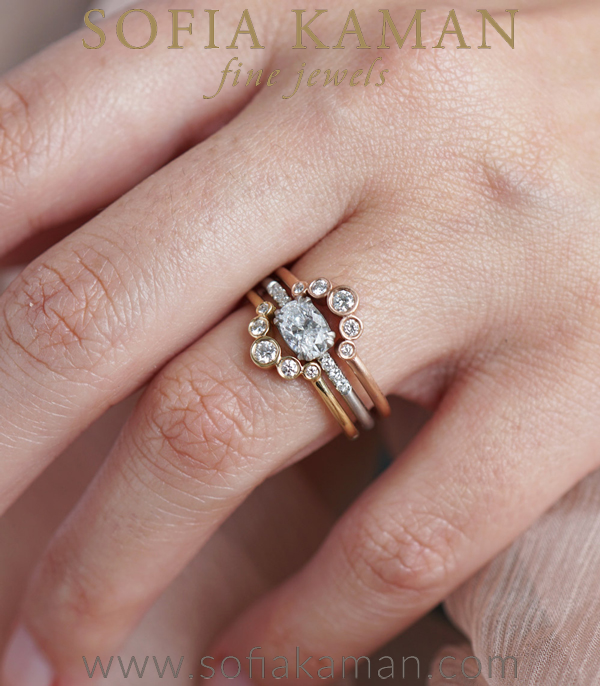 Sofia Kaman Unique Engagement Ring Set