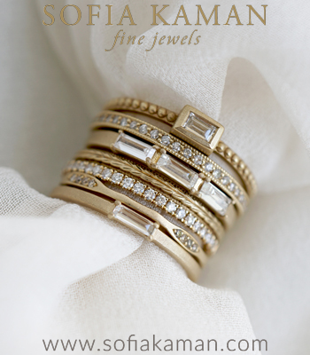 Starla Stacking Ring Set Perfect for Unique Engagement Rings designed by Sofia Kaman handmade in Los Angeles