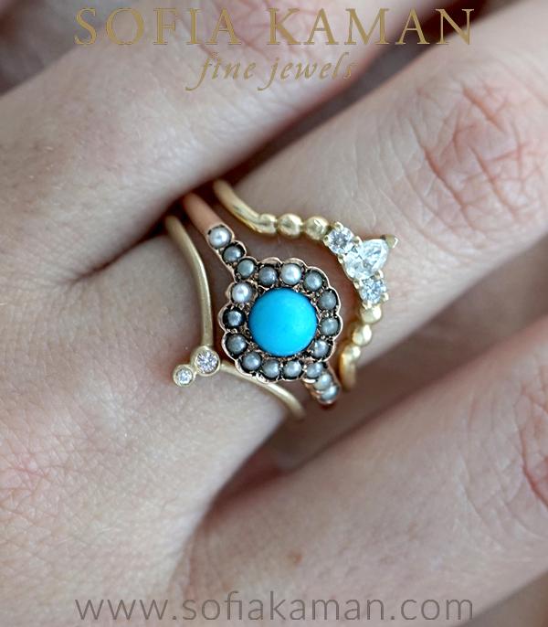 Sofia Kaman Turquoise Stacking Ring Set