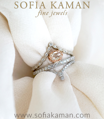Stack of the Week Matches Perfectly with Unique Engagement Rings designed by Sofia Kaman handmade in Los Angeles