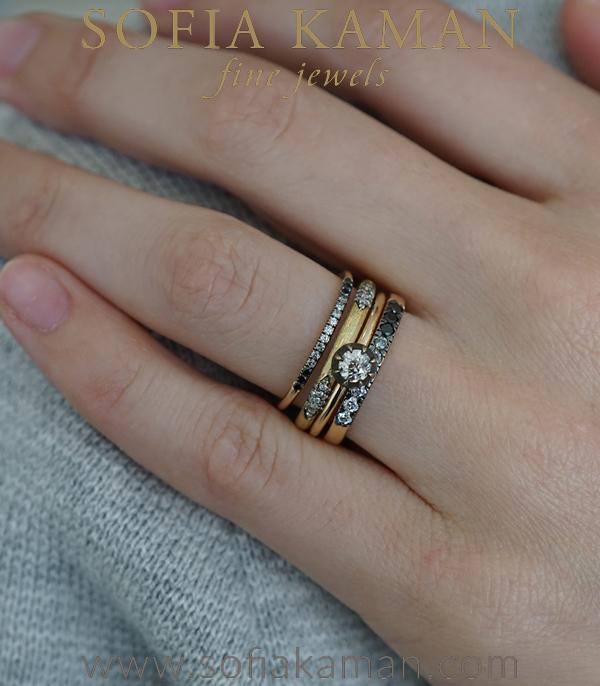 Unique Engagement Ring Stacking Set