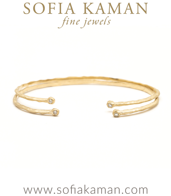Gold Diamond Cuff For Engagement Rings