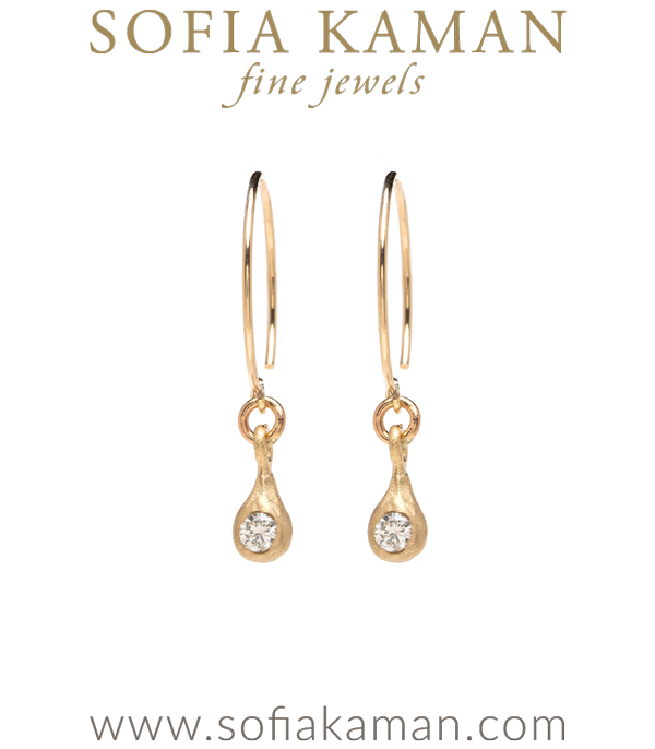 Gold Diamond Drop Earrings For Engagement Ring Styles