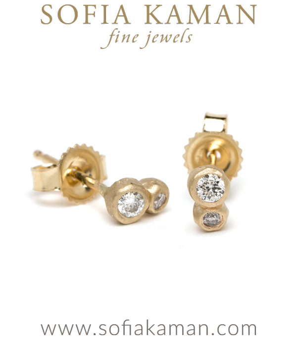 Sofia Kaman Double Diamond Stud Earrings