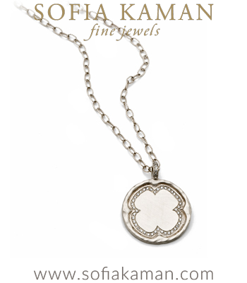 Round Initial Medallion Necklace made in Los Angeles
