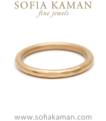Organic Bohemian Stacking Ring Handmade Wedding Band designed by Sofia Kaman handmade in Los Angeles