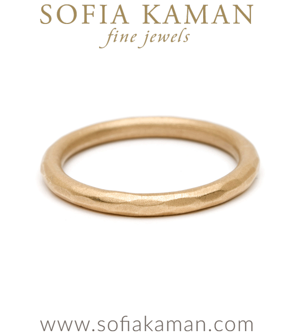 Organic Bohemian Stacking Ring Handmade Wedding Band made in Los Angeles