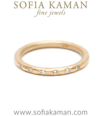 Round Diamond Boho Stacking Ring Bohemian Wedding Band made in Los Angeles