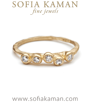 Organic Boho Diamond Cobblestone Stacking Ring Natural Bohemian Engagement Ring made in Los Angeles