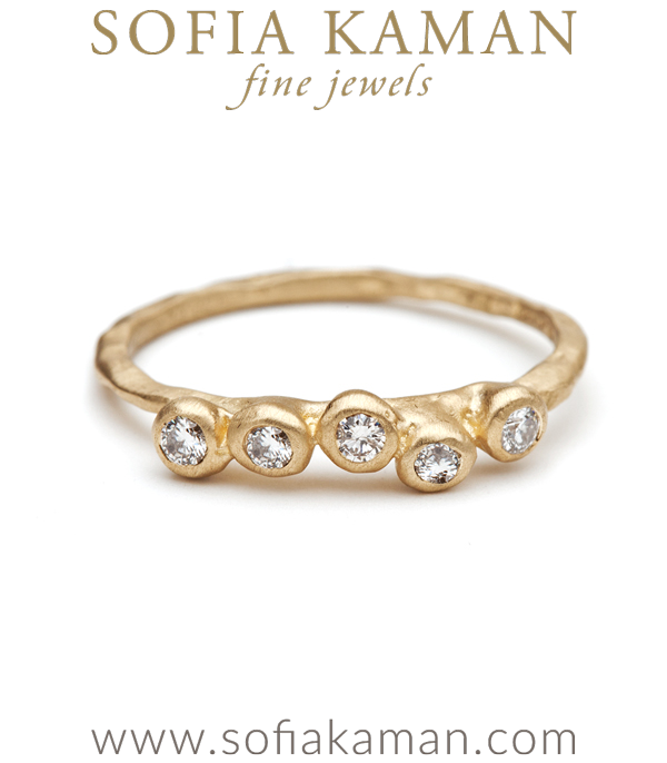 Natural Organic Diamond Pod Stacking Ring