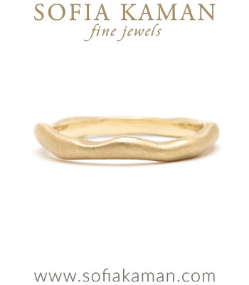 Organic Wavy Boho Stacking Ring Natural Bohemian Wedding Band designed by Sofia Kaman handmade in Los Angeles