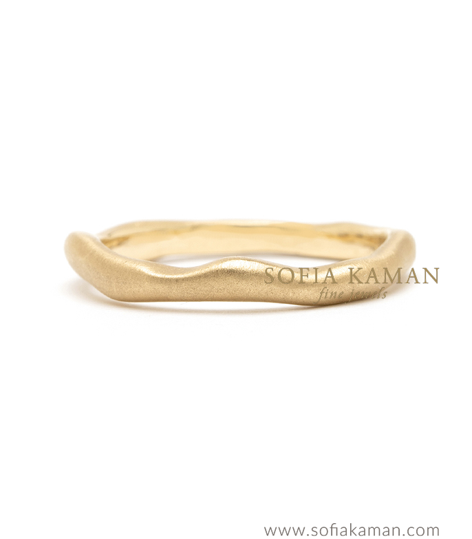 Organic Wavy Boho Stacking Ring Natural Bohemian Wedding Band designed by Sofia Kaman handmade in Los Angeles using our SKFJ ethical jewelry process.