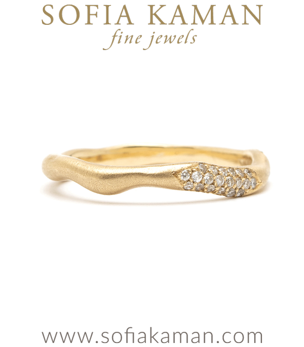 Organic Diamond Wedding Band