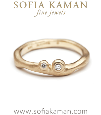 Boho Moi et Toi Organic Natural Diamond Stacking Ring designed by Sofia Kaman handmade in Los Angeles