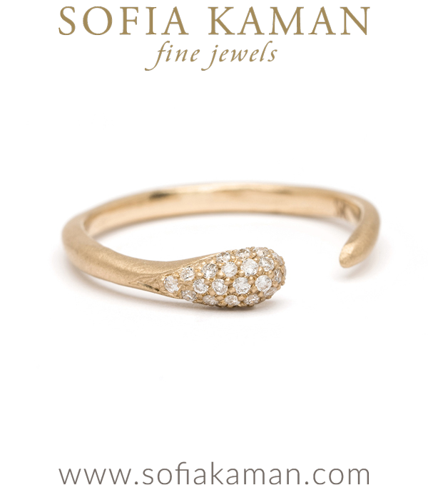 Gold Diamond Boho Stacking Ring