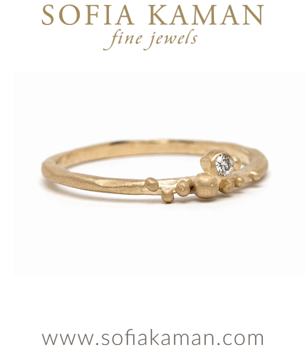 14k Gold Diamond Accent Boho Stacking Ring