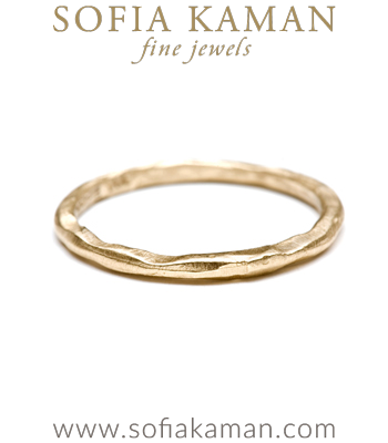 Organic Boho Stacking Ring Natural Bohemian Wedding Band made in Los Angeles