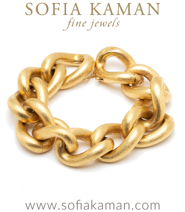 Vintage Retro Chunky Gold Bracelet curated by Sofia Kaman.