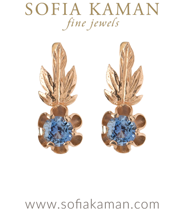 Blue Sapphire Vintage Earrings Perfect for Most Engagement Ring Styles Especially Vintage Engagement Rings and Unique Engagement Rings curated by Sofia Kaman.